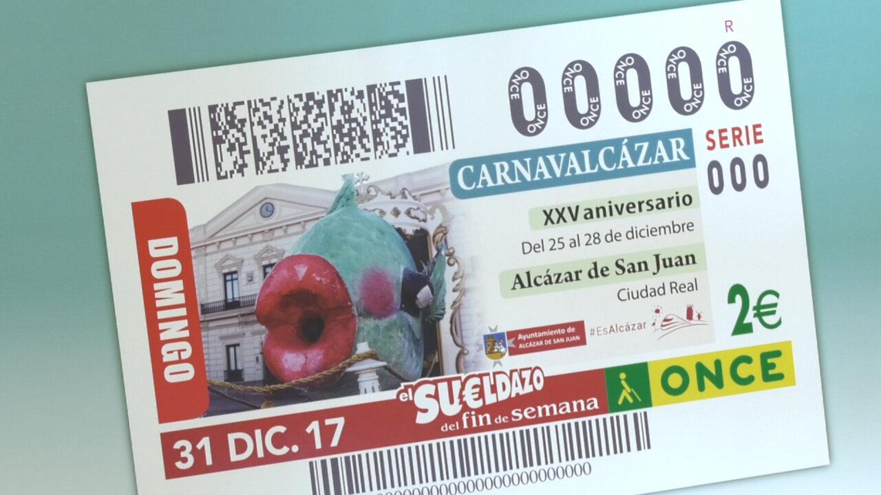 Alcázar promociona su Carnaval con el cupón de la ONCE del 31 de diciembre