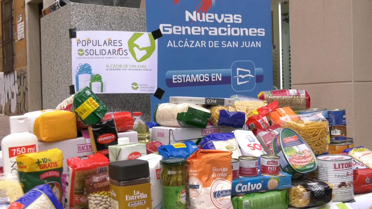 NNGG organiza la Campaña de Recogida de alimentos y juguetes 'Populares Solidarios'