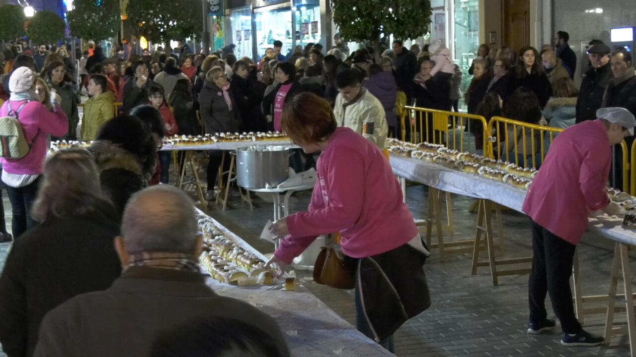 2.500 porciones del tradicional Roscón de Reyes solidario de Alcázar