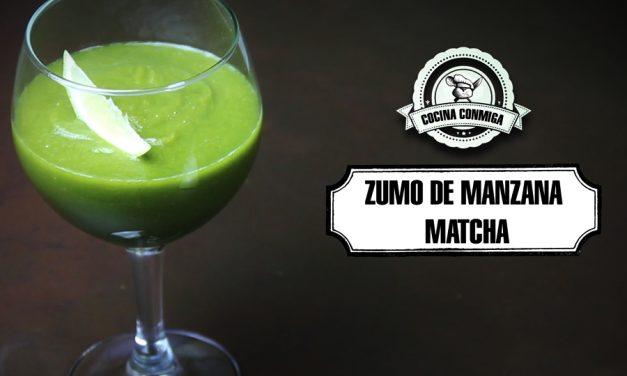 Zumo de Manzana, pepino y té matcha