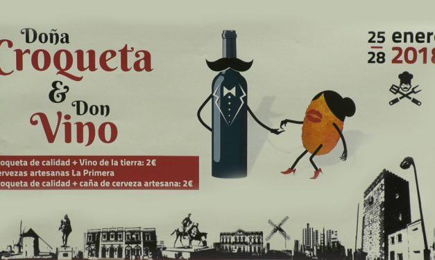 Alcázar arranca su calendario gastronómico con la celebración de 'Doña Croqueta y Don Vino'