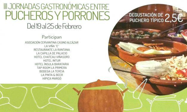 Once establecimientos participarán en las III Jornadas Gastronómicas 'Entre pucheros y porrones'