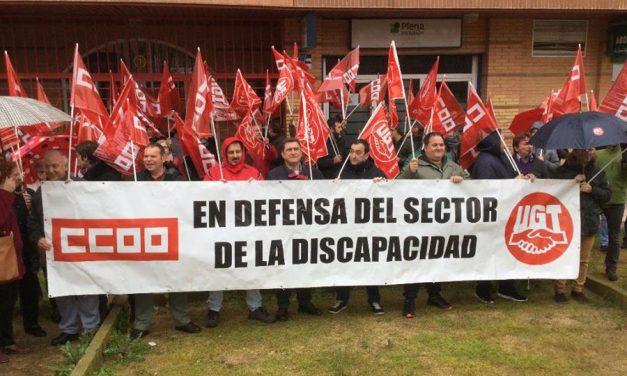 """UGT y CCOO movilizan al sector de Discapacidad para reclamar condiciones de trabajo """"dignas"""""""