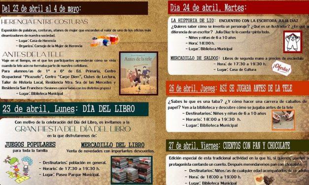 Del 23 de abril al 4 de mayo la Biblioteca Municipal de Herencia celebra su Semana del Libro