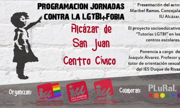 """""""El proyecto socio-educativo, Tutoría LGTBI en los centros escolares"""" es el título de la conferencia que tendrá lugar el sábado 19 de mayo en el Centro Cívico de Alcázar"""