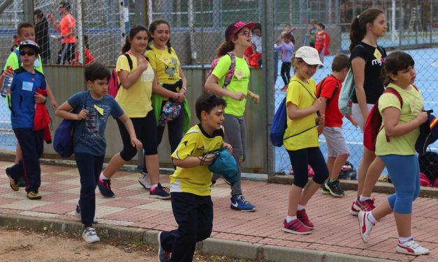 El CEIP Jardín de Arena celebra sus II Miniolimpiadas con 275 alumnos practicando deporte de manera simultánea