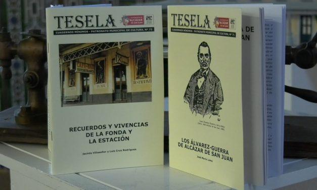 La recuperada Fonda de la Estación acoge la presentación de las teselas de 'Los Álvarez Guerra de Alcázar de San Juan' y los 'Recuerdos y Vivencias de la Fonda y la Estación'