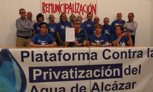 La Plataforma contra la Privatización de Aguas de Alcázar anuncia que el Ayuntamiento ya no se persona como parte recurrente en la causa judicial abierta por Ana Belén Tejado