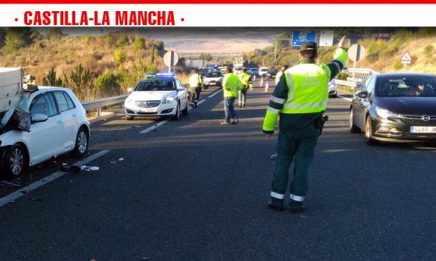Accidentes de tráfico ocurridos durante el pasado fin de semana en las carreteras de Castilla-La Mancha