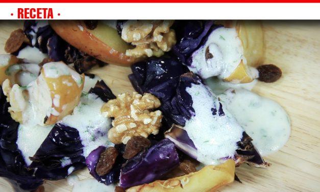 Lombarda y manzana asada, una receta diferente y saludable