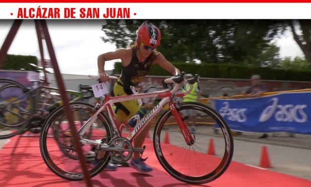 El Triatlón de Menores celebrado en Alcázar concentra a 50 deportistas de Castilla-La Mancha y Madrid