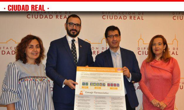 Diputación y Colegio de Farmacéuticos promueven una campaña para prevenir los efectos nocivos del sol en la provincia