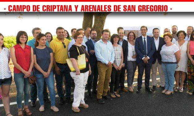 La carretera que une Campo de Criptana con Arenales de San Gregorio ya se encuentra operativa