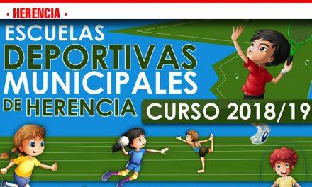Abierto el plazo de inscripción para las Escuelas Deportivas Municipales de Herencia