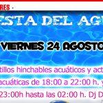 La 'Fiesta del Agua' pondrá el broche final a una temporada de piscina con gran afluencia de bañistas