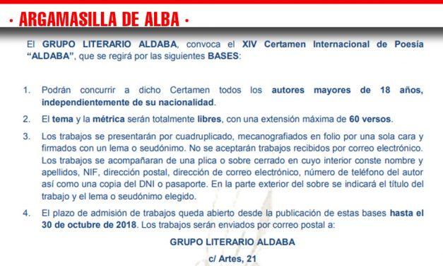 Aldaba convoca su certamen internacional de poesía y el regional de microrrelatos