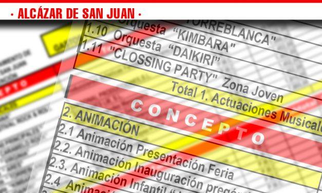El ayuntamiento de Alcázar de San Juan publica las cifras de gastos e  ingresos que han supuesto la Feria y Fiestas 2018