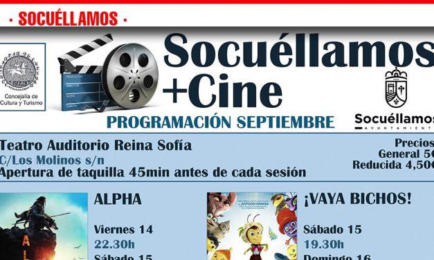 Socuéllamos +Cine trae nuevos estrenos al auditorio Reina Sofía durante este mes de septiembre