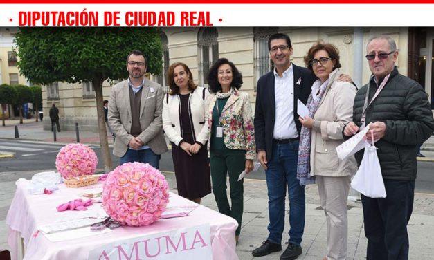 Caballero entrega la aportación de la Diputación a AMUMA con motivo del Día Internacinal contra el Cáncer de Mama