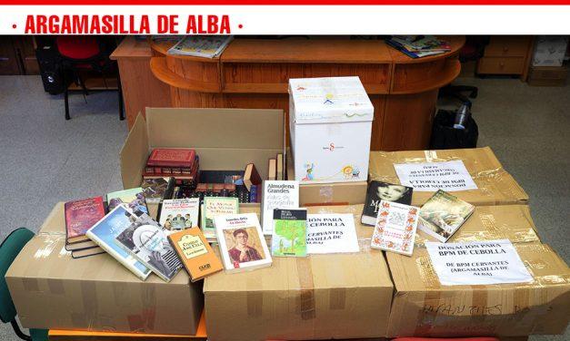 Argamasilla de Alba contribuye a la recuperación de la biblioteca de Cebolla con 400 libros