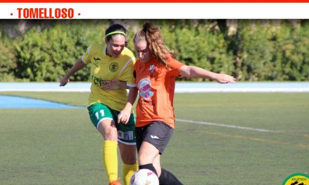 El Atlético Tomelloso Femenino consiguió su tercera victoria consecutiva por 1 – 3 a costa de un Motilla Femenino que se vio superado en todas las facetas del juego