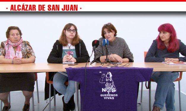 Bajo el lema 'Stop Violencias Machistas',  la Asamblea Feminista 7N ha organizado este domingo una manifestación mostrando su repulsa a la violencia de género s