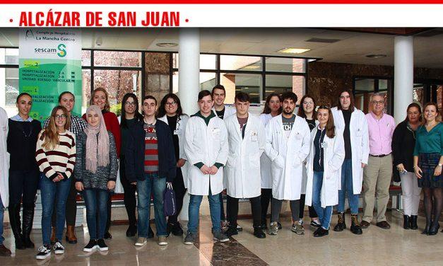 Clausura del periodo de prácticas de los alumnos de la EFA El Gamonal en el Hospital Mancha Centro