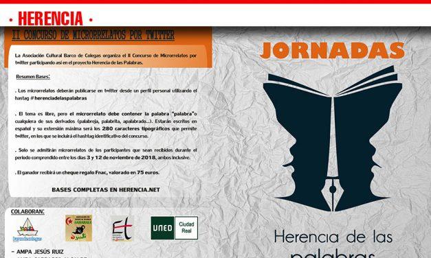 """Dentro del proyecto """"Herencia de las Palabras"""" se presentan unas Jornadas de difusión del lenguaje"""