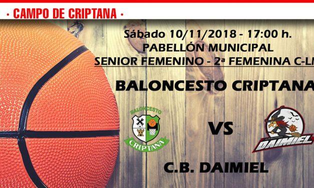 Previas Baloncesto Criptana 8-9-10 de noviembre