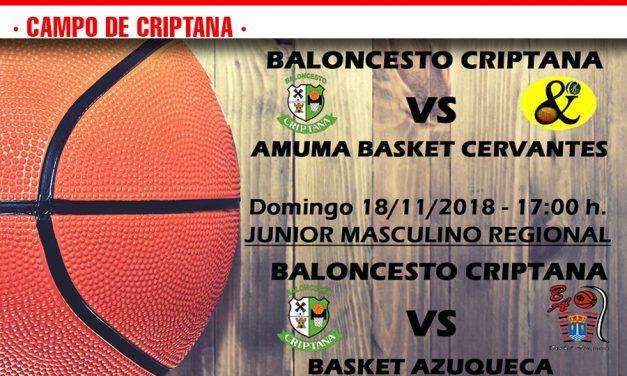 Previas Baloncesto Criptana 17 y 18 de noviembre