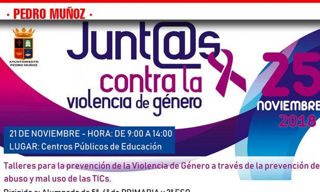 Actos del Día Internacional Contra la Violencia de Género en Pedro Muñoz