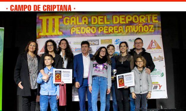 Setenta deportistas premiados en la III Gala del Deporte 'Pedro Perea Muñoz' celebrada en Campo de Criptana