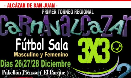 Del 26 al 28 de diciembre se va a celebrar el primer torneo regional 3×3 de fútbol sala Carnavalcazar