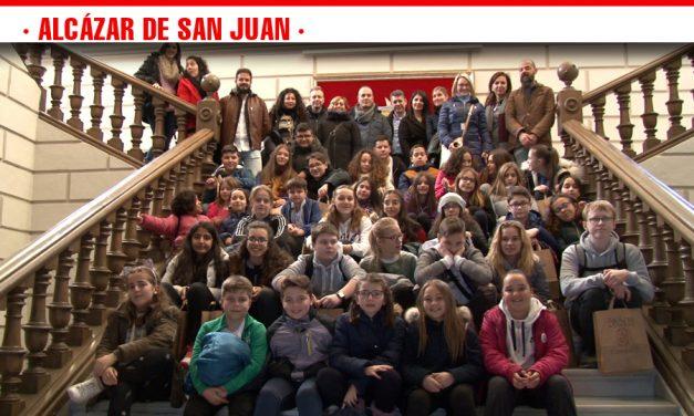 Recepción del alumnado de Turquía, Hungría, Dinamarca e Italia del Programa Erasmus Plus en el Ayuntamiento de Alcázar de San Juan