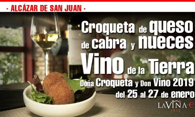 Queso de cabra y nueces, nueva propuesta gastronómica de La Viña e para la edición de Doña Croqueta  y Don Vino