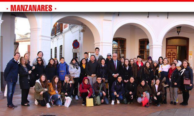 Julián Nieva recibe a alumnado de Polonia, Croacia e Italia del programa Erasmus+