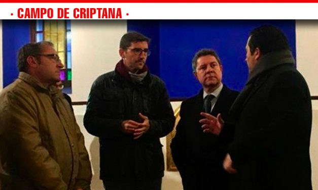 García-Page y Caballero visitan las obras de restauración de la ermita de la Veracruz de Campo de Criptana