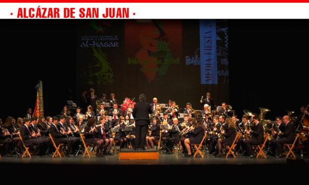 La Media Fiesta 2019 de los Moros y Cristianos arranca con el concierto de la Banda de Música en el Auditorio alcazareño