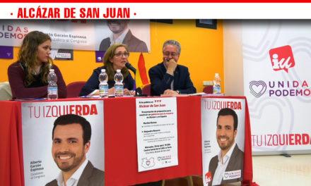 Izquierda Unida presenta las propuestas de su programa político en el acto abierto al público celebrado en Alcázar de San Juan