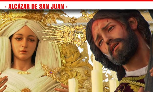 La Hermandad de Nuestro Padre Jesús del Perdón y María Santísima de la Salud realiza su estación de penitencia en Domingo de Ramos