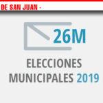 Candidaturas con las que los partidos políticos de Alcázar de San Juan concurrirán a las elecciones el próximo 26 de mayo.