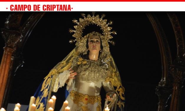 Viernes de Pasión, en la procesión de La Virgen de los Dolores en Campo de Criptana
