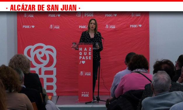 Cristina Maestre traslada el proyecto socialista de las próximas Elecciones Generales en Alcázar de San Juan