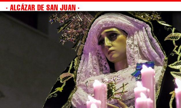 Nuestra Señora de los Dolores, abre la Semana de Pasión en Alcázar de San Juan.