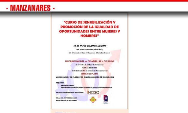 'Sensibilización y promoción de la igualdad de oportunidades entre mujeres y hombres'