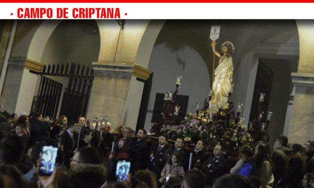 El Resucitado da por finalizada la Semana Santa criptanense