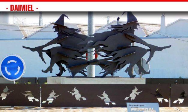 Brujas en la rotonda de Madrid-Manzanares