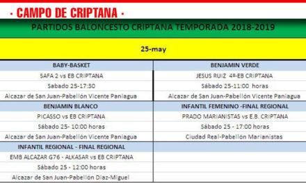 Previa baloncesto Criptana 25 Mayo