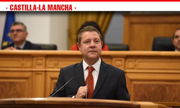 García-Page propone a las fuerzas parlamentarias grandes pactos en empleo, agua, servicios públicos, financiación autonómica, infraestructuras y reto demográfico