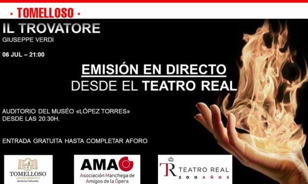 El Auditorio López Torres acogerá el sábado la retransmisión en directo de 'IlTrovatore' desde el Teatro Real de Madrid